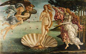 La Nascita di Venere de  Sandro Botticelli (1482-1485)