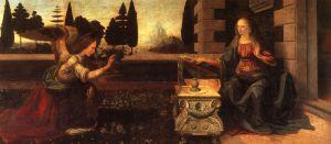 L'Annunciazione de Leonardo da Vinci(1472 - 1475)