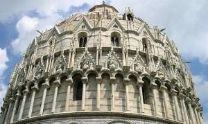O Batistério de Pisa